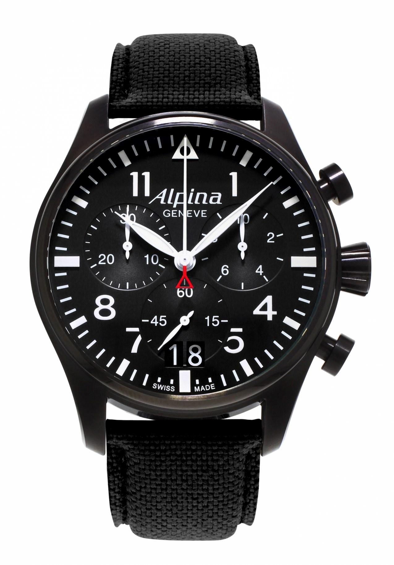 alpina startimer pilot herrenchronograph al 372b4fbs6 nur 995 00. Black Bedroom Furniture Sets. Home Design Ideas
