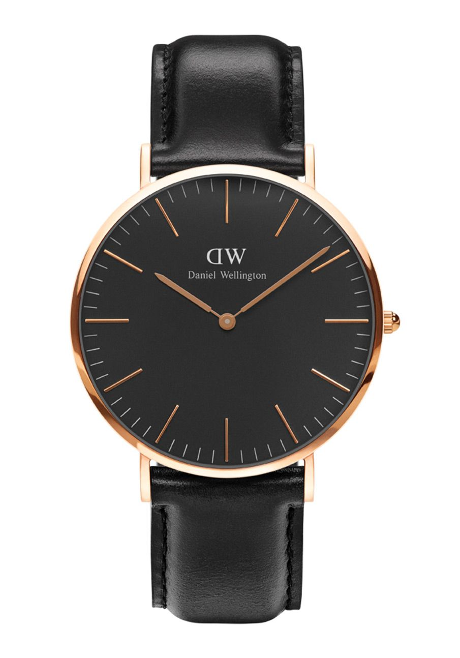 daniel wellington classic black sheffield rosegold 40mm. Black Bedroom Furniture Sets. Home Design Ideas