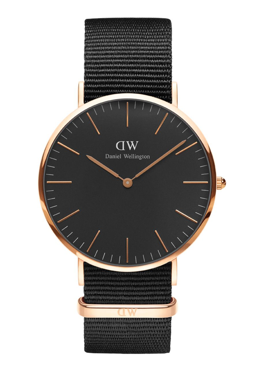 daniel wellington classic black cornwall rosegold 40mm nur 159 00. Black Bedroom Furniture Sets. Home Design Ideas