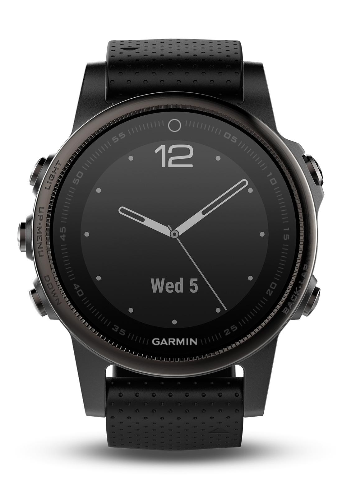 garmin fenix 5s saphir schwarz gps multisport smartwatch. Black Bedroom Furniture Sets. Home Design Ideas