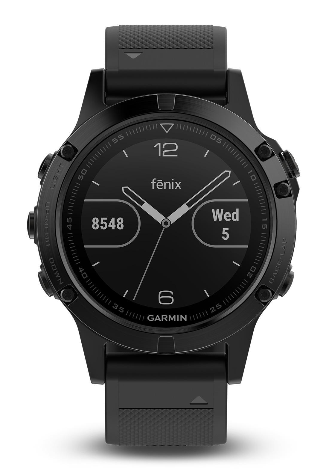garmin fenix 5 saphir schwarz gps multisport smartwatch. Black Bedroom Furniture Sets. Home Design Ideas