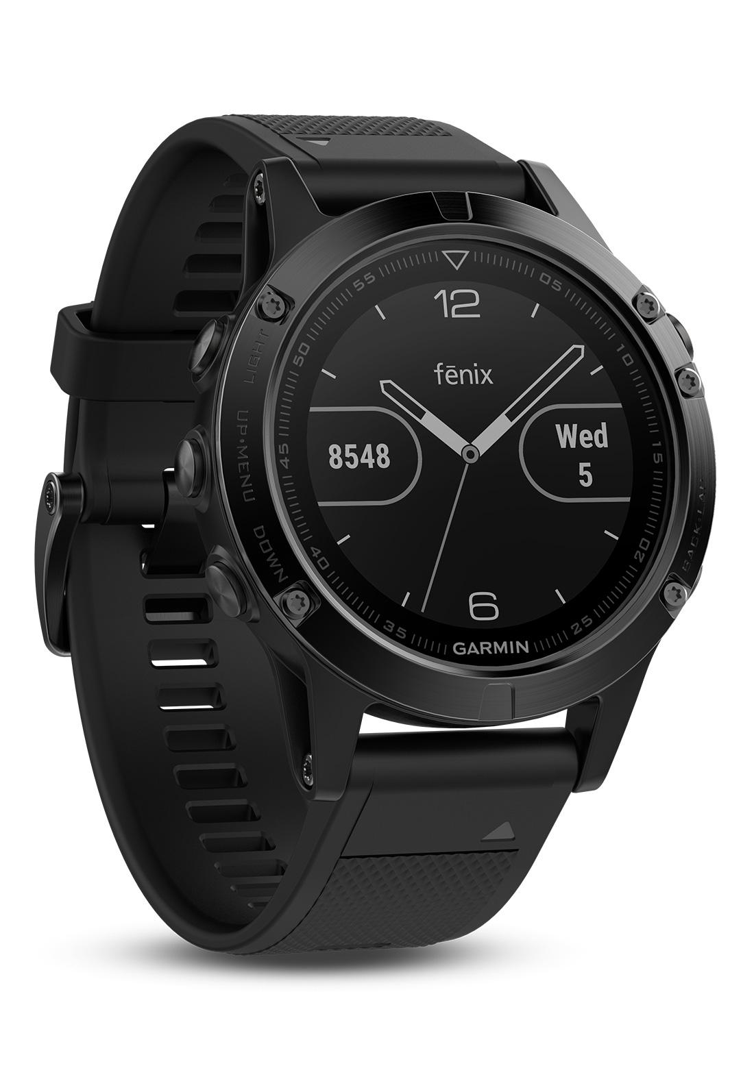 garmin fenix 5 saphir schwarz gps multisport smartwatch. Black Bedroom Furniture Sets. Home Design Ideas