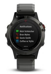 Garmin Fenix 5 Saphir Slate Gray Metall GPS Multisport Smartwatch (010-01688-21)