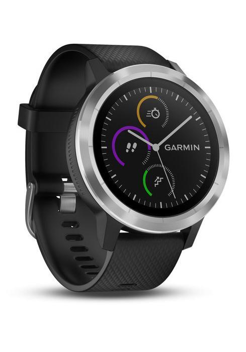 garmin vivoactive 3 schwarz silber multisport smartwatch. Black Bedroom Furniture Sets. Home Design Ideas