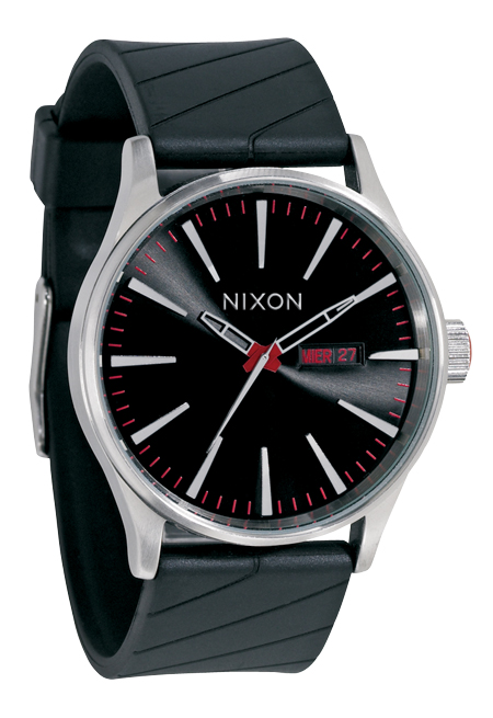 nixon the sentry black herrenuhr a027000 nur 99 00. Black Bedroom Furniture Sets. Home Design Ideas
