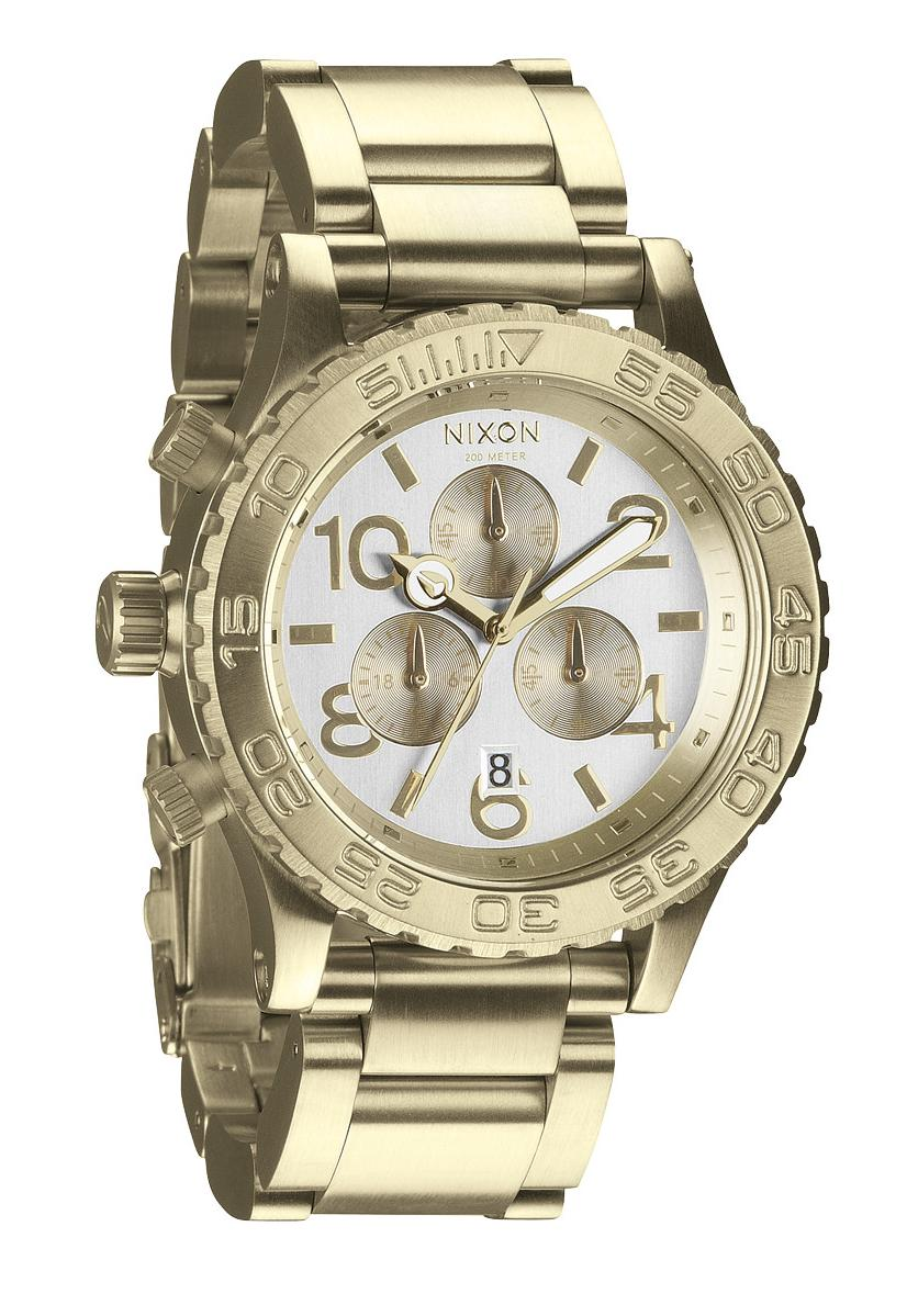 Nixon The 42-20 Chrono Champagne/Gold Chronograph