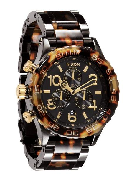 Nixon The 42-20 Chrono All Black/Tortoise Chronograph