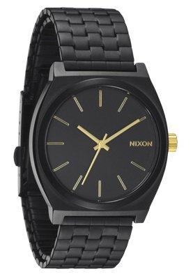 Nixon The Time Teller Matte Black/Gold Herrenuhr