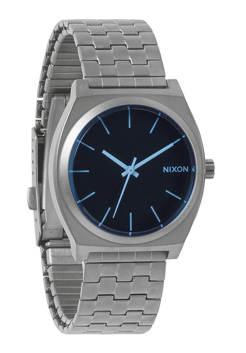 Nixon The Time Teller Gunmetal / Blue Crystal