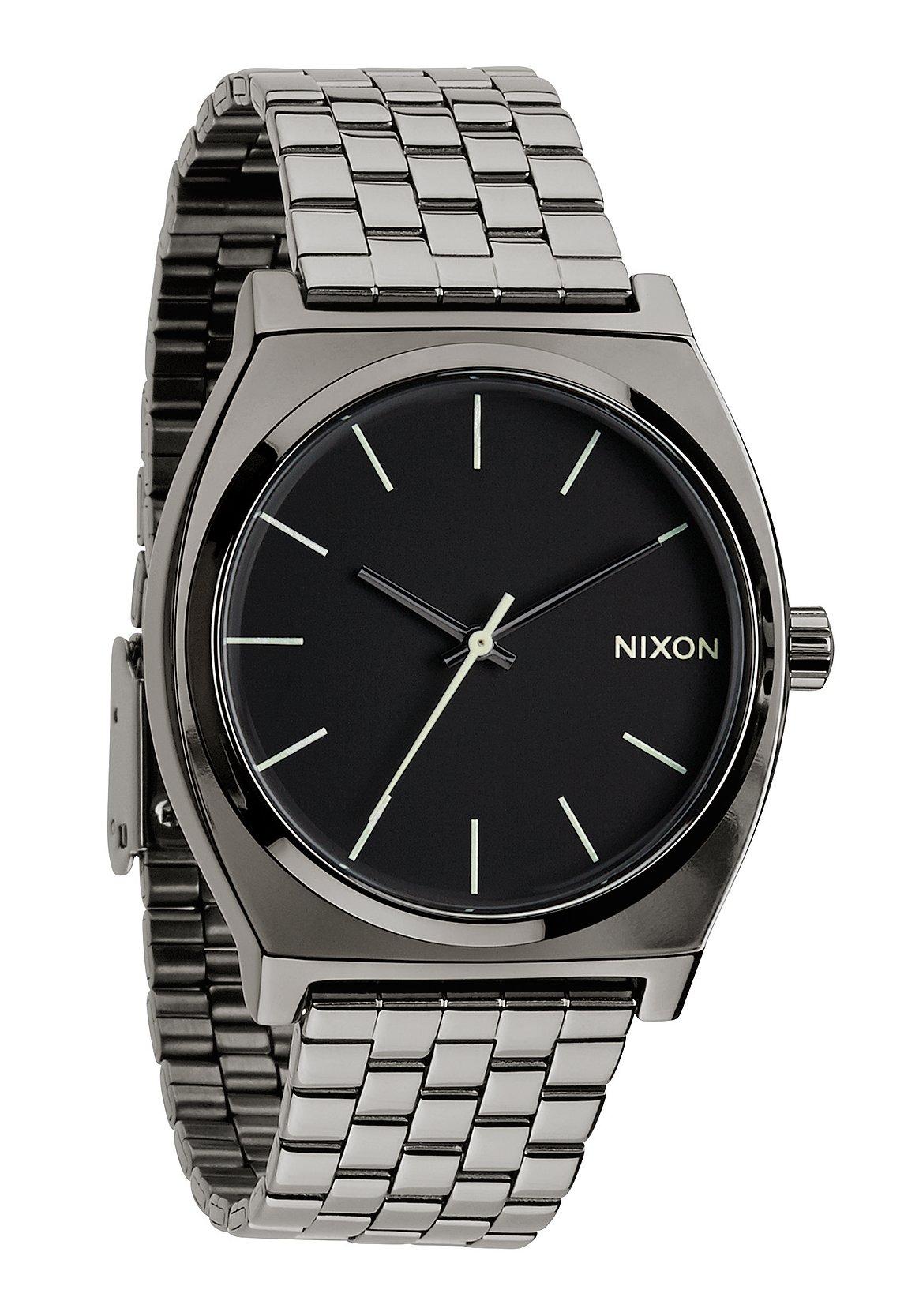 Nixon The Time Teller Polished Gunmetal / Lum