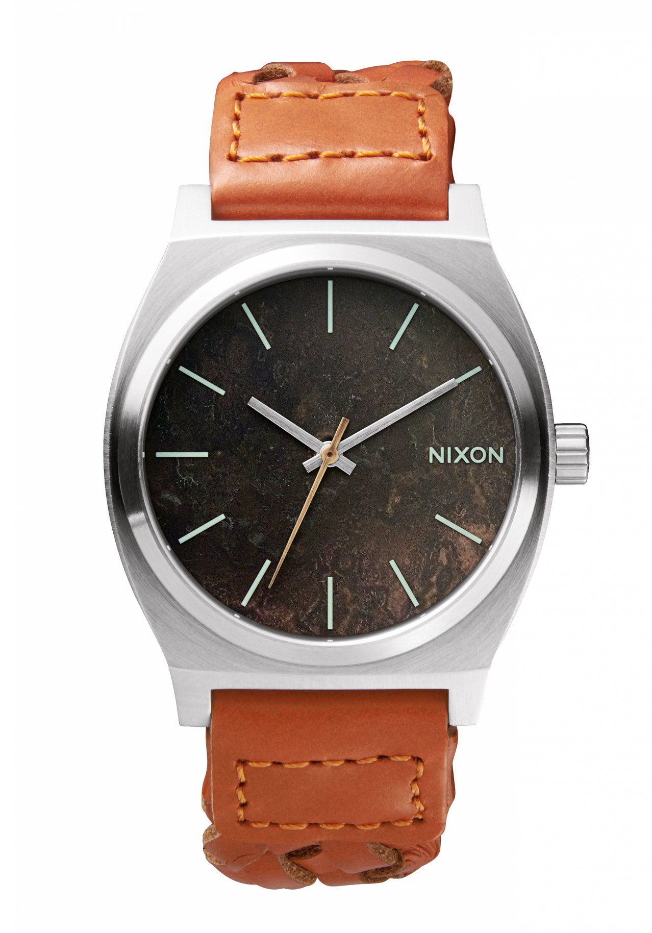 Nixon The Time Teller Dark Copper / Saddle Woven