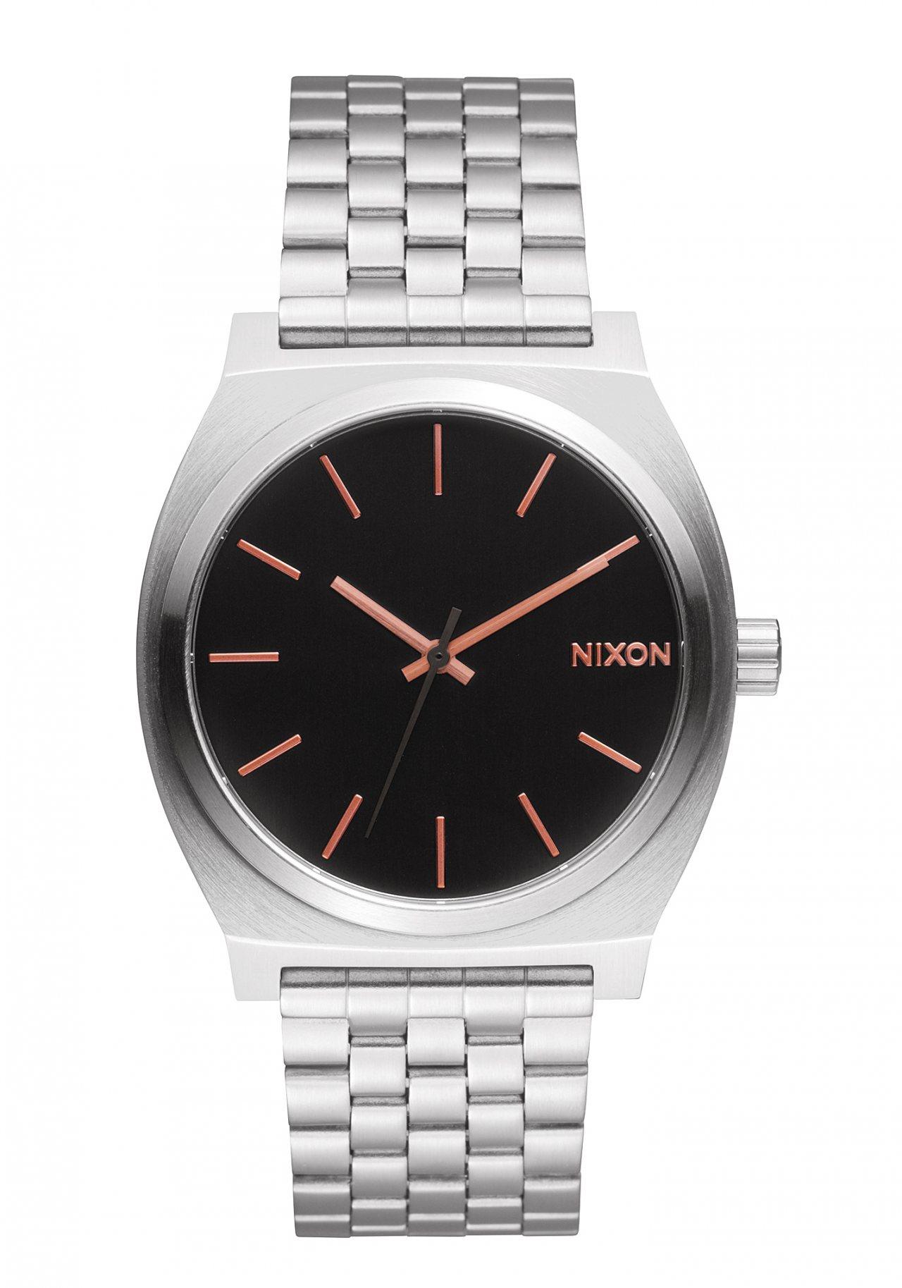 Nixon The Time Teller Gray Rose Gold