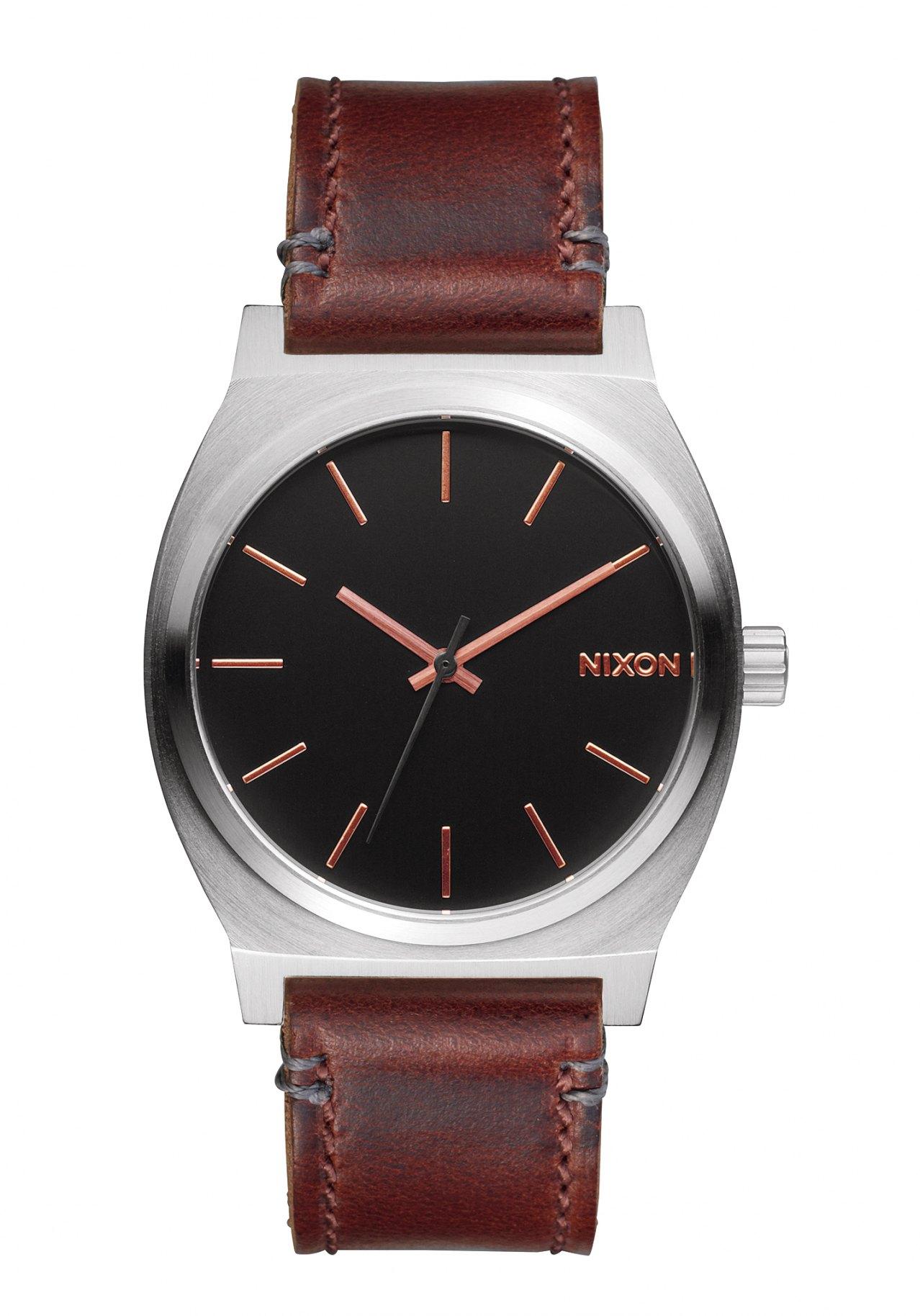 Nixon The Time Teller Gray Rose Gold Brown