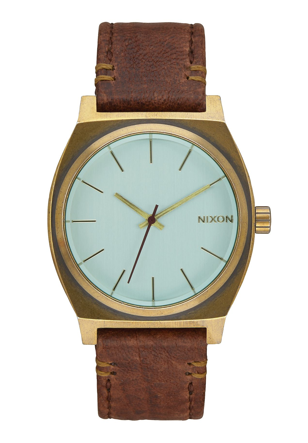 Nixon The Time Teller Brass Green Crystal Brown