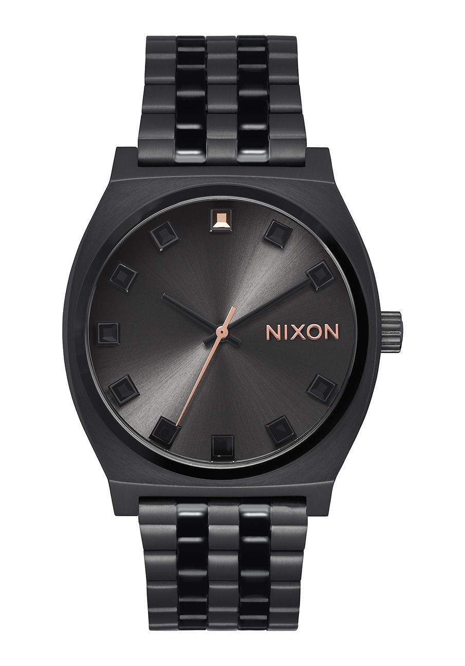 Nixon The Time Teller Black Crystal / Rose Gold