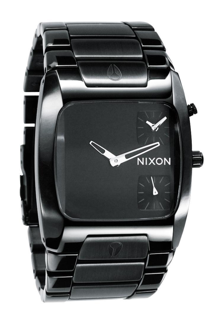nixon the banks all black herrenuhr a060001 nur 249 00. Black Bedroom Furniture Sets. Home Design Ideas