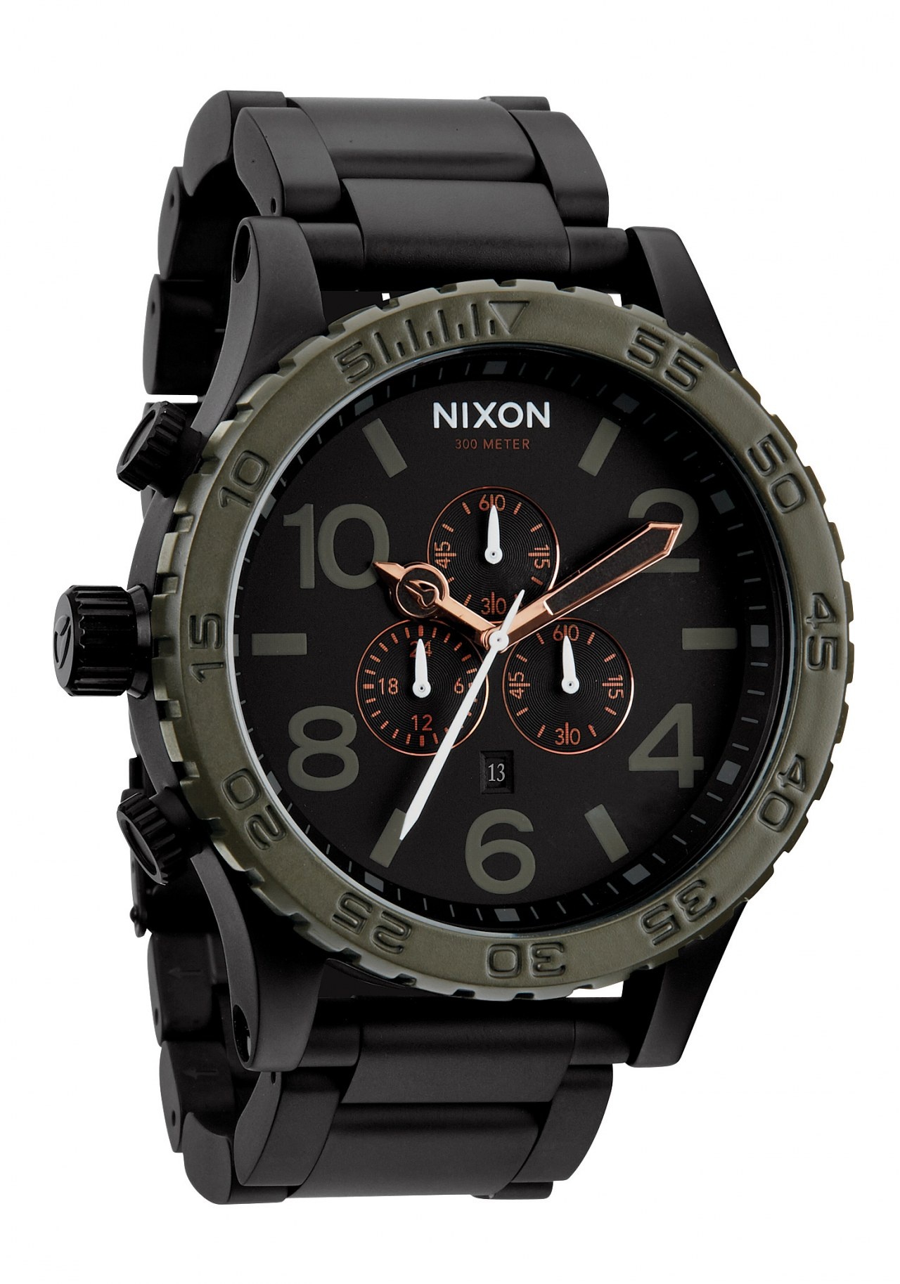 Nixon The 51-30 Chrono Matte Black / Industrial Green