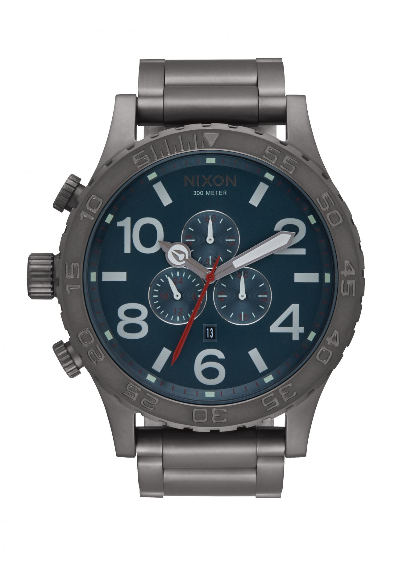 Nixon The 51-30 Chrono All Gunmetal / Dark Blue