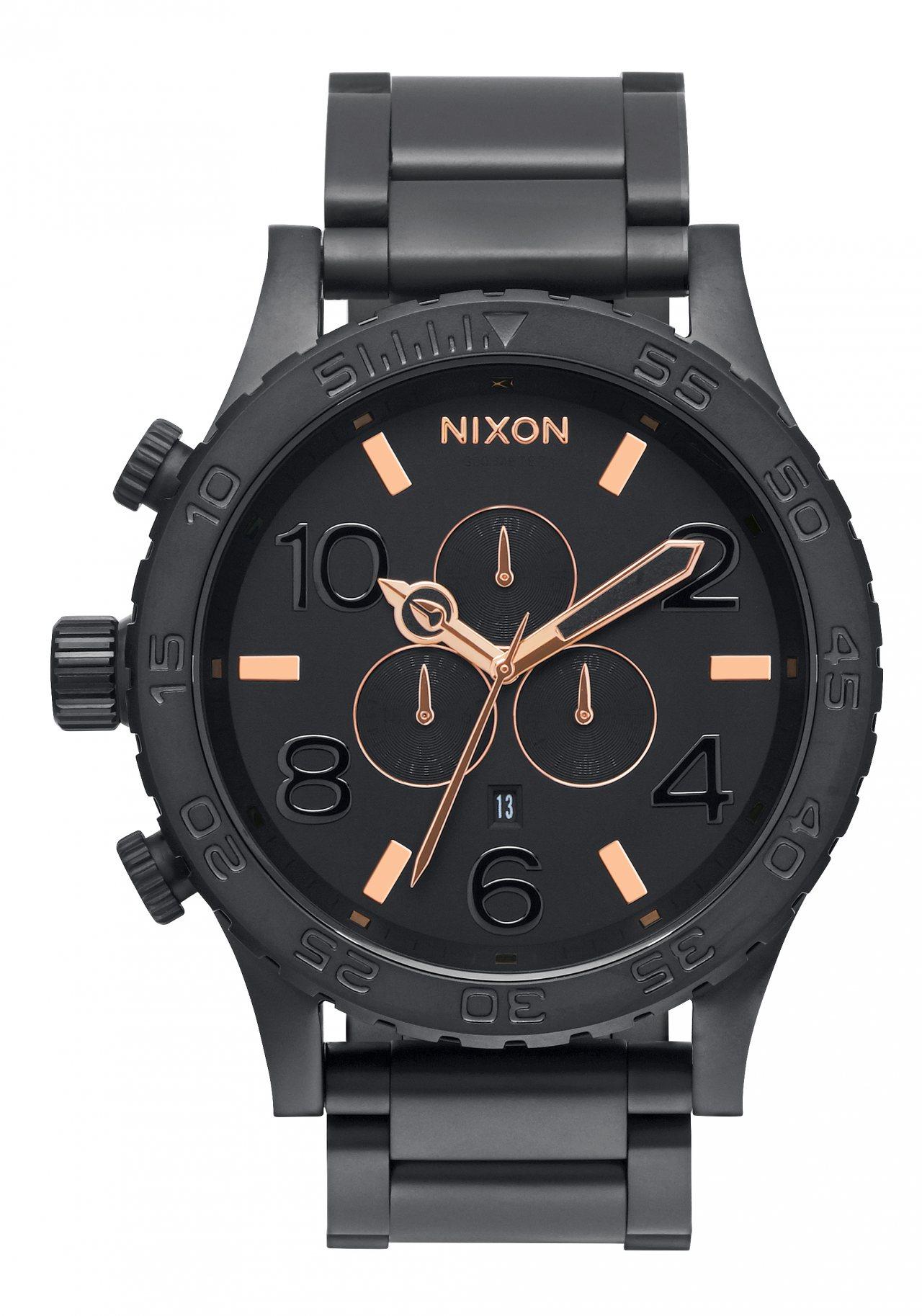 Nixon The 51-30 Chrono All Black / Rose / Gold