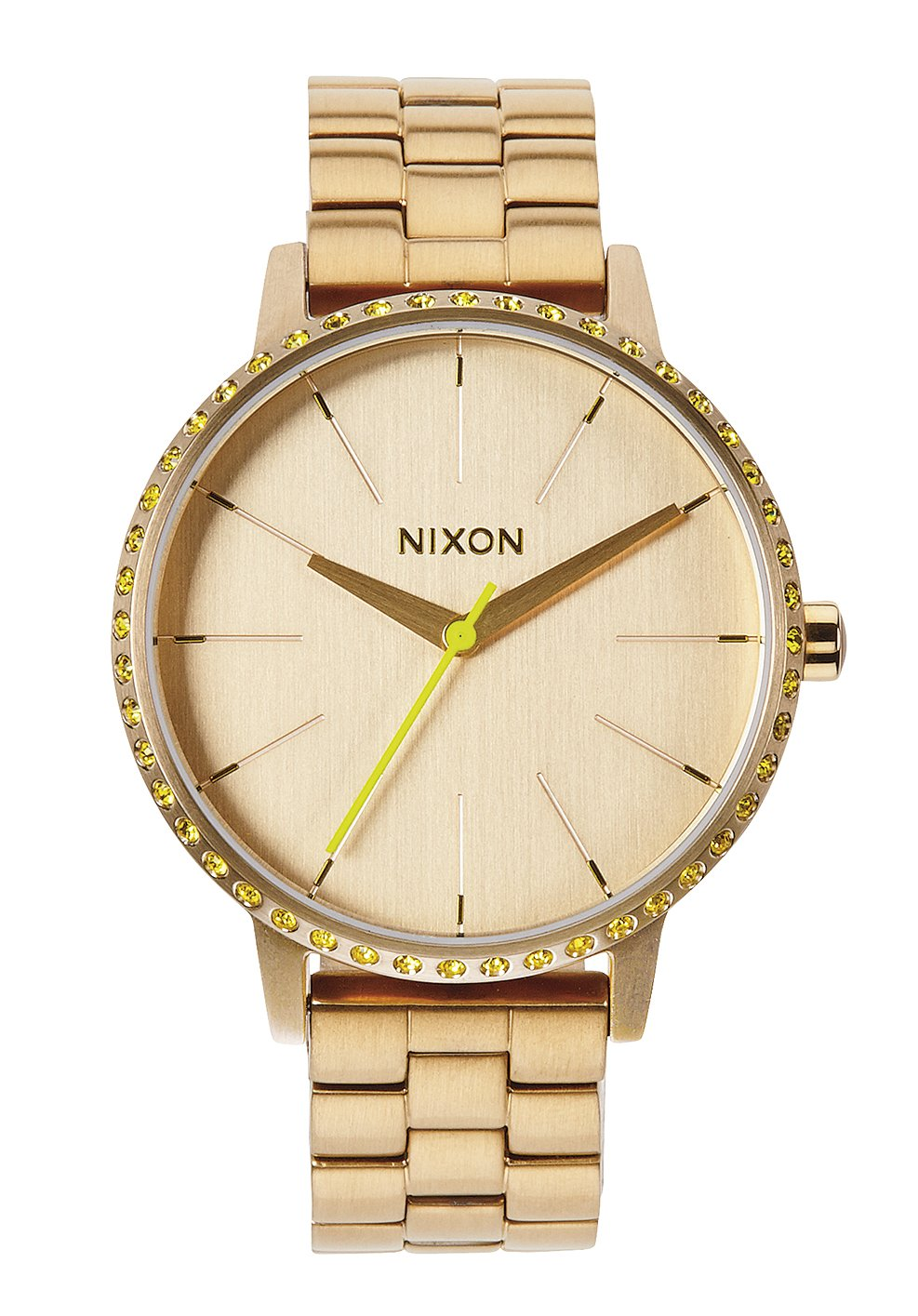 Nixon The Kensington All Gold / Neon Yellow Damenuhr