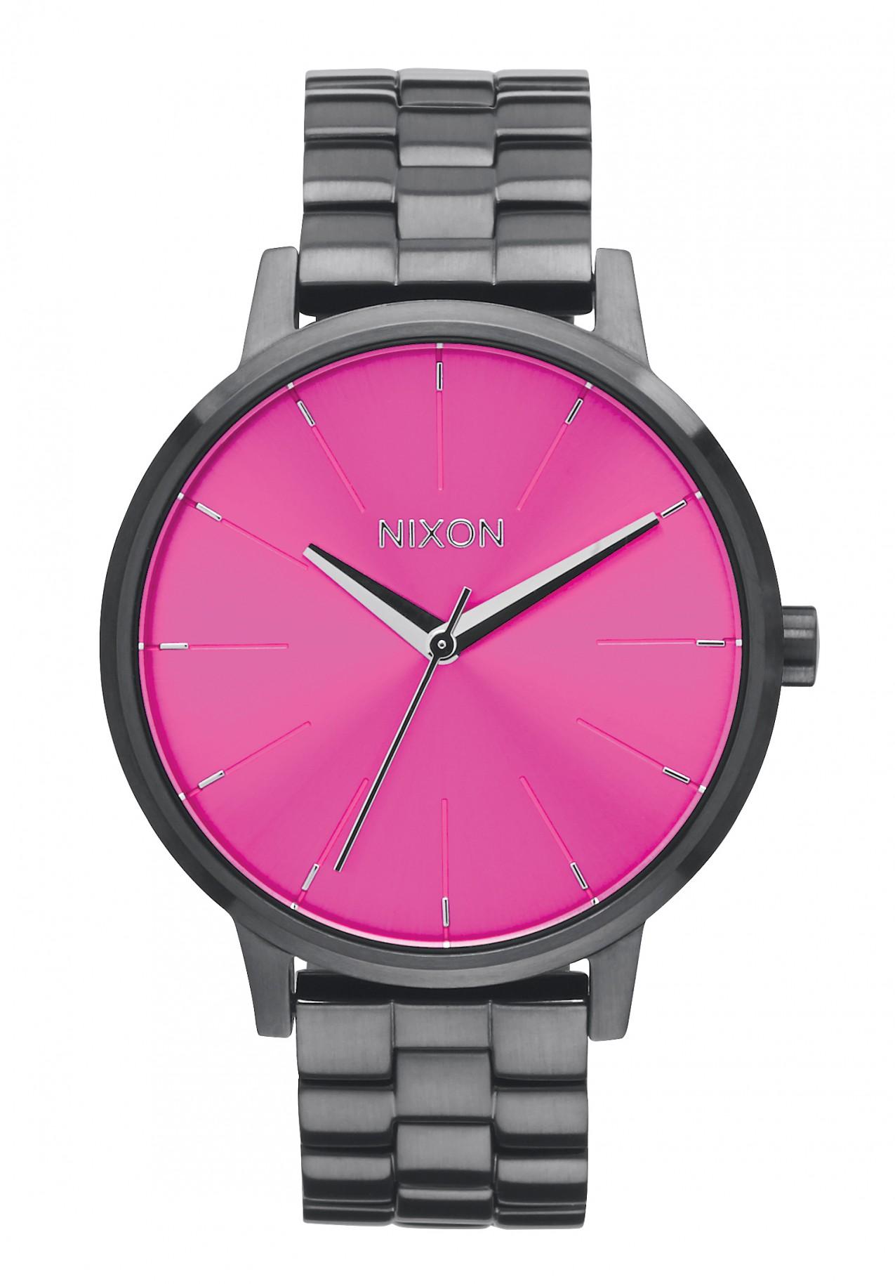 Nixon The Kensington Gunmetal / Pink / Sunray