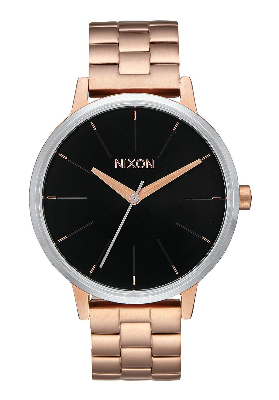 Nixon The Kensington Rose Gold / Black Sunray