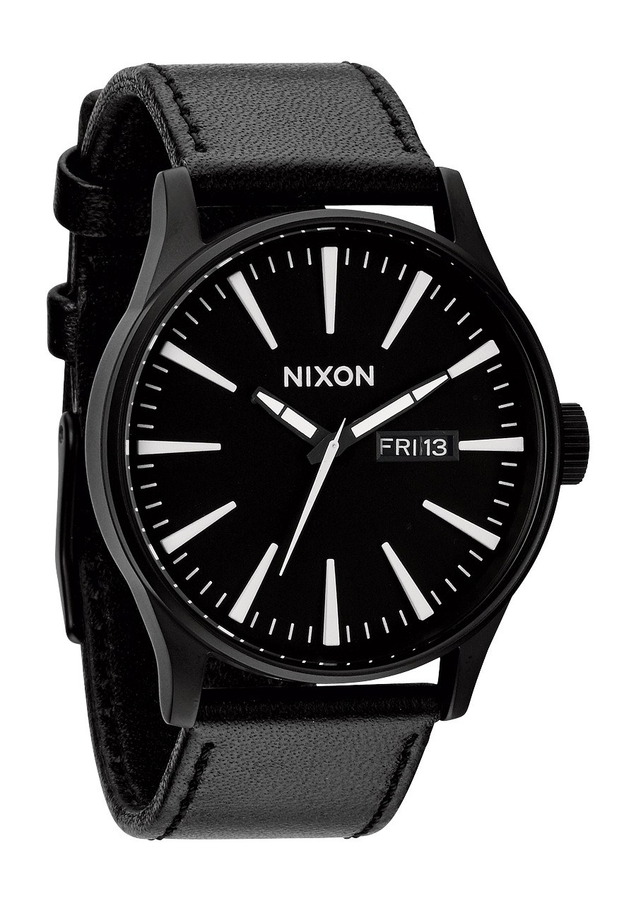 Nixon The Sentry Leather Black / White