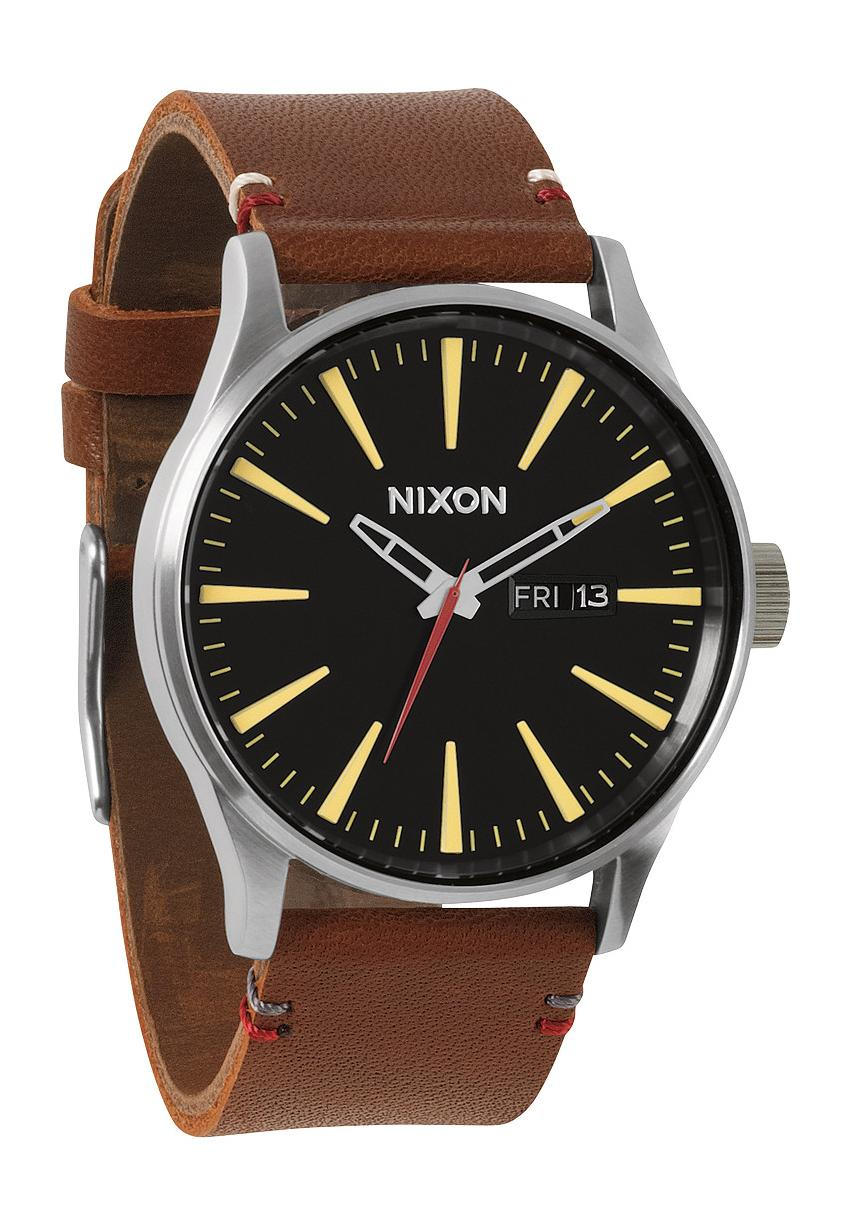 Nixon The Sentry Leather Black / Brown