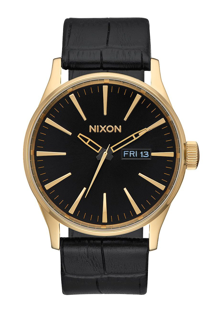 Nixon The Sentry Leather Gold / Black Gator