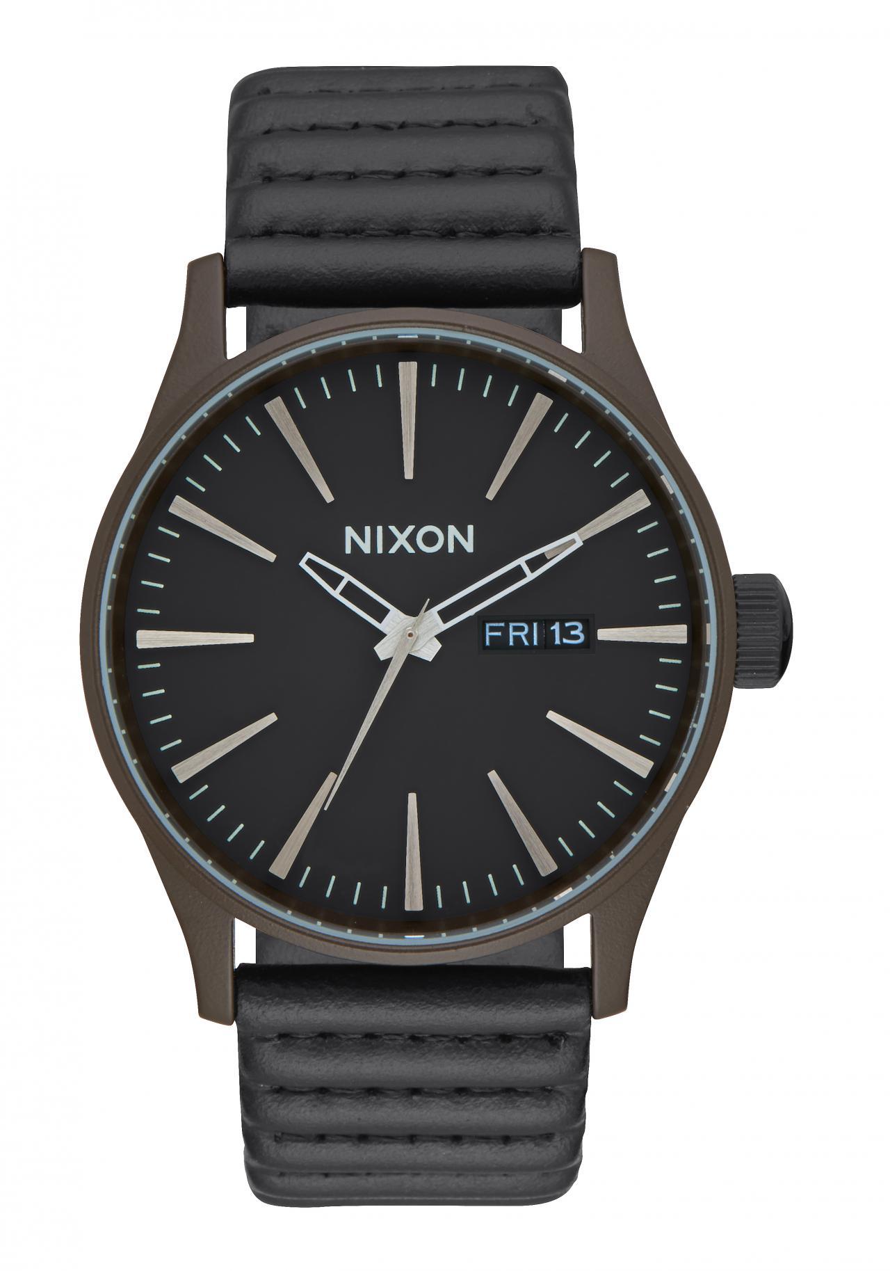 Nixon The Sentry Leather Bronze / Black