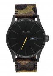 Nixon The Sentry Leather Black / Camo / Volt (A1053054)
