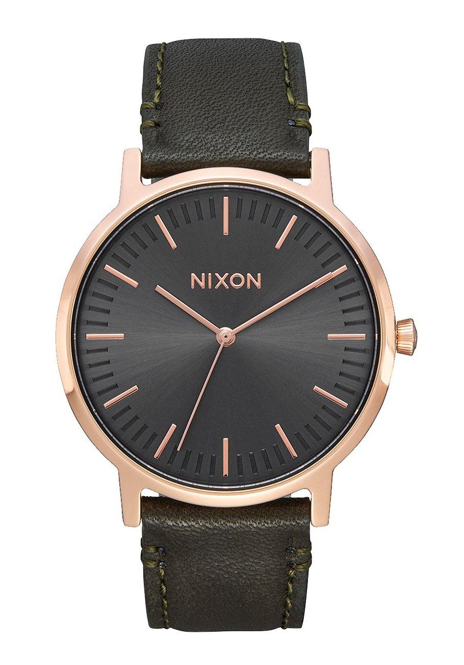 Nixon The Porter Leather Rose Gold Gunmetal Surplus