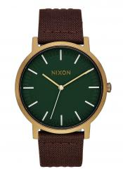 Nixon The Porter Leather Palm Green / Brass / Brown (A1058-2852)