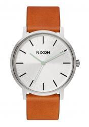 Nixon The Porter Leather Silver / Tan (A1058-2853)