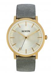Nixon The Porter Leather All Light Gold / Gray (A1058-2982)