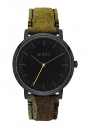 Nixon The Porter Leather Black / Camo / Volt (A1058-3054)