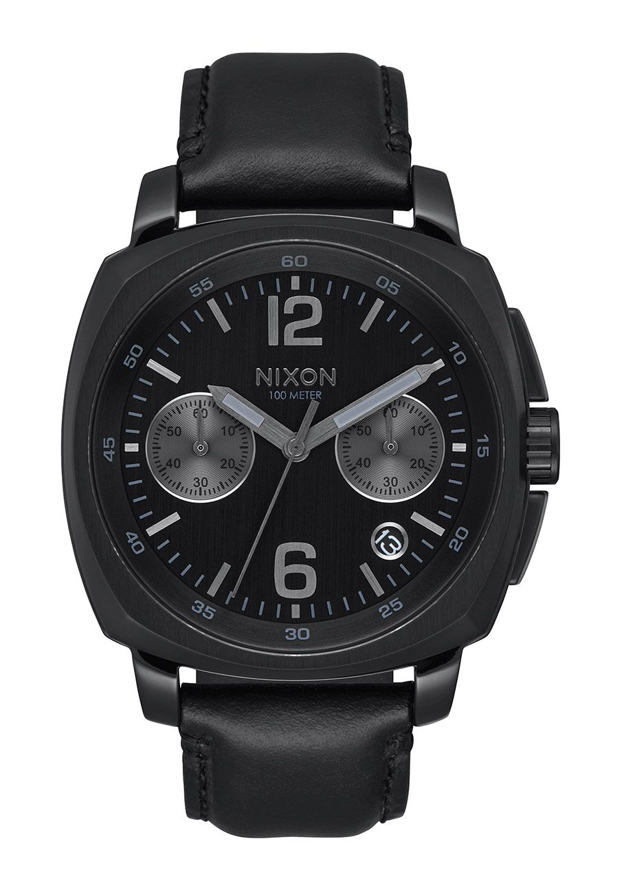 Nixon The Charger Chrono Leather All Black