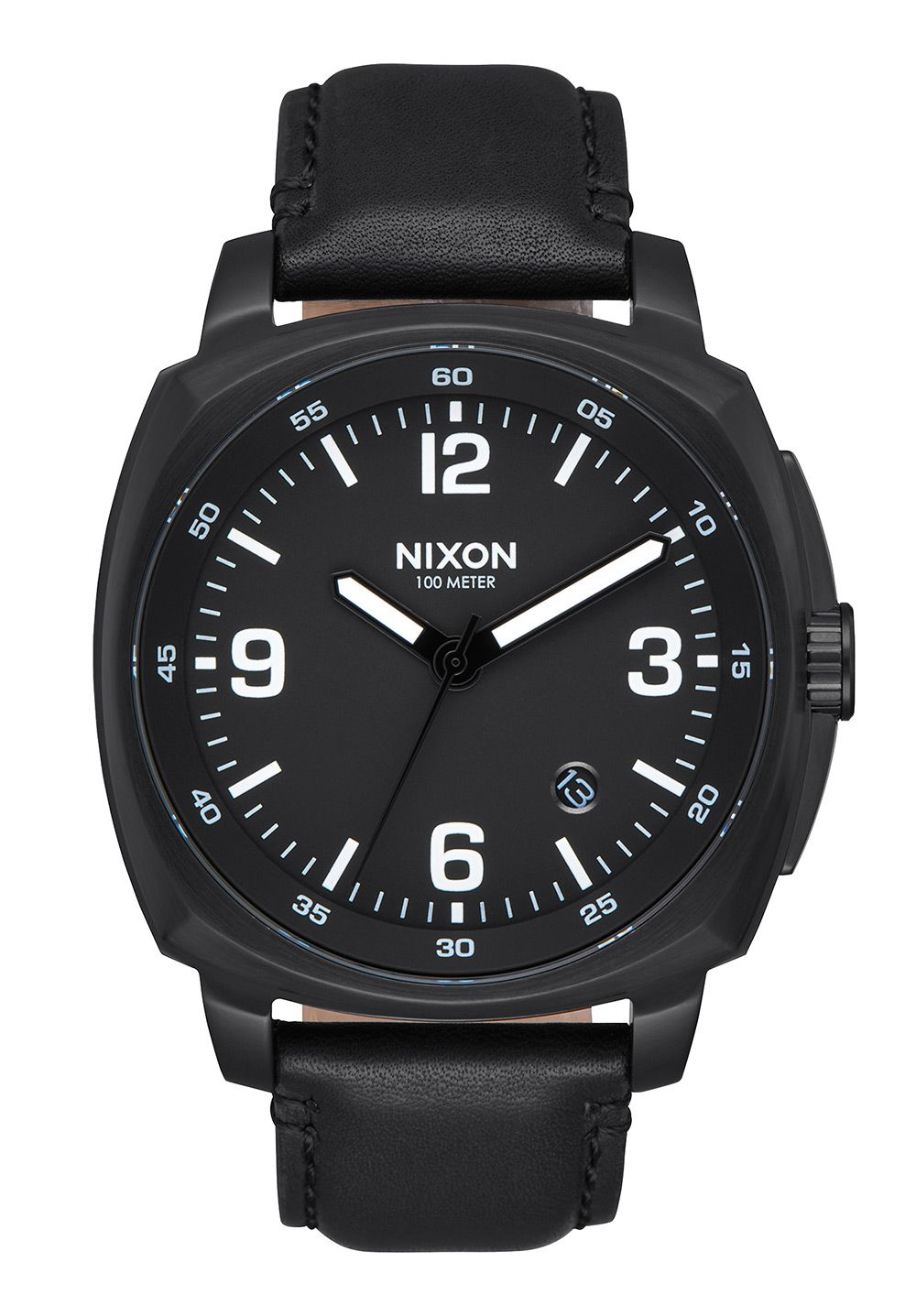 Nixon The Charger Leather All Black