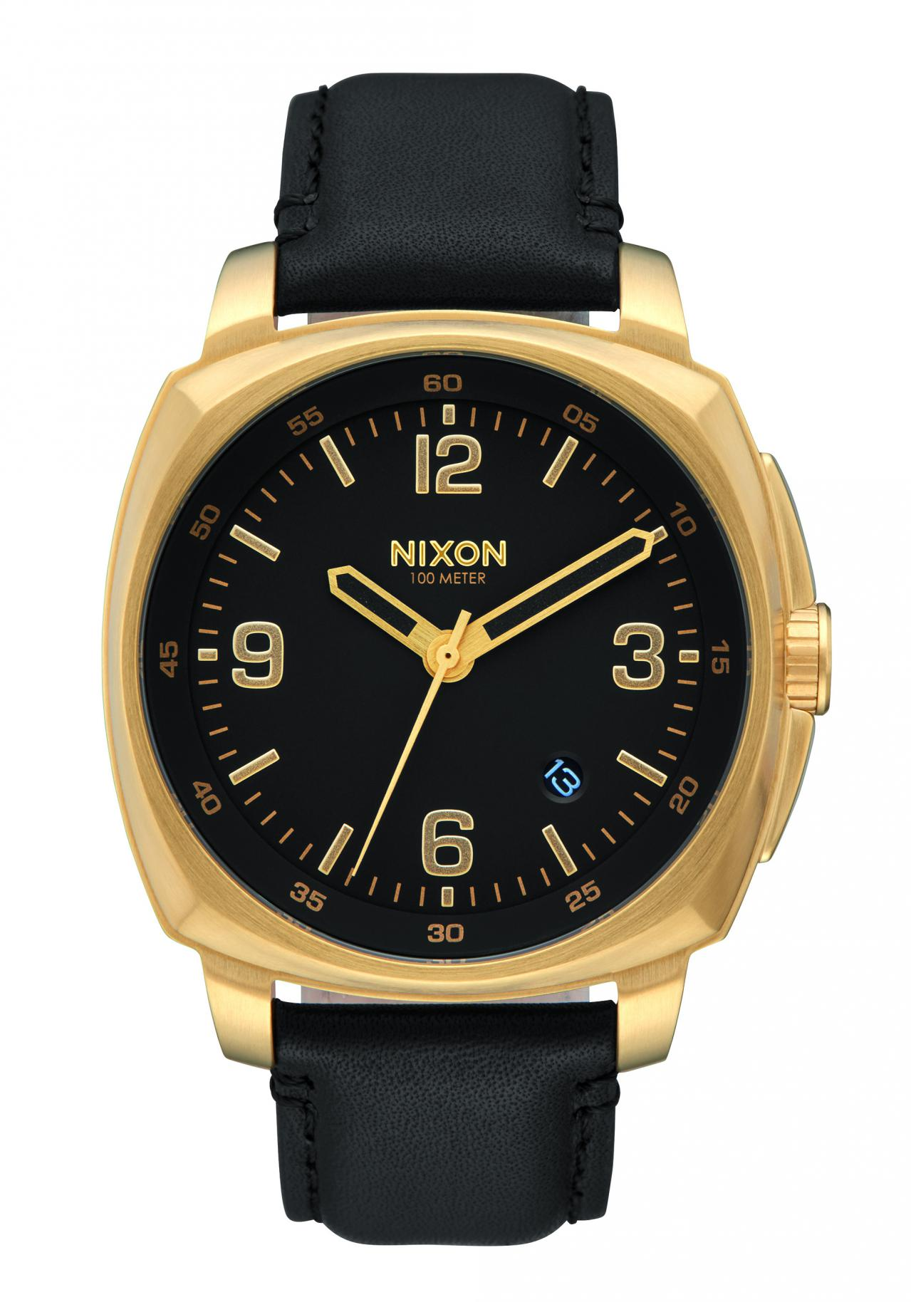 Nixon The Charger Leather Black / Saddle