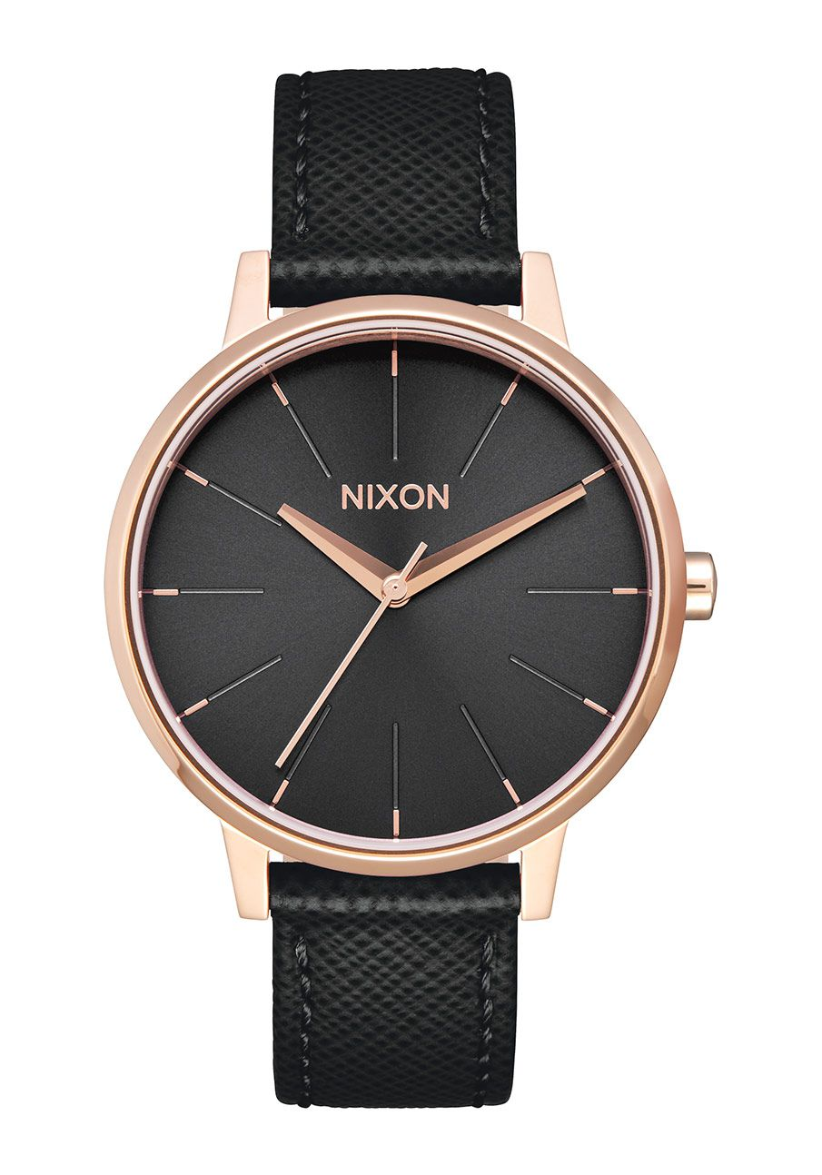 Nixon The Kensington Leather Rose Gold / Black