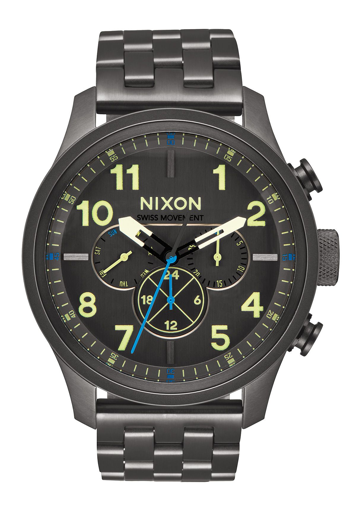 Nixon The Safari Dual Time All Gunmetal / Lum