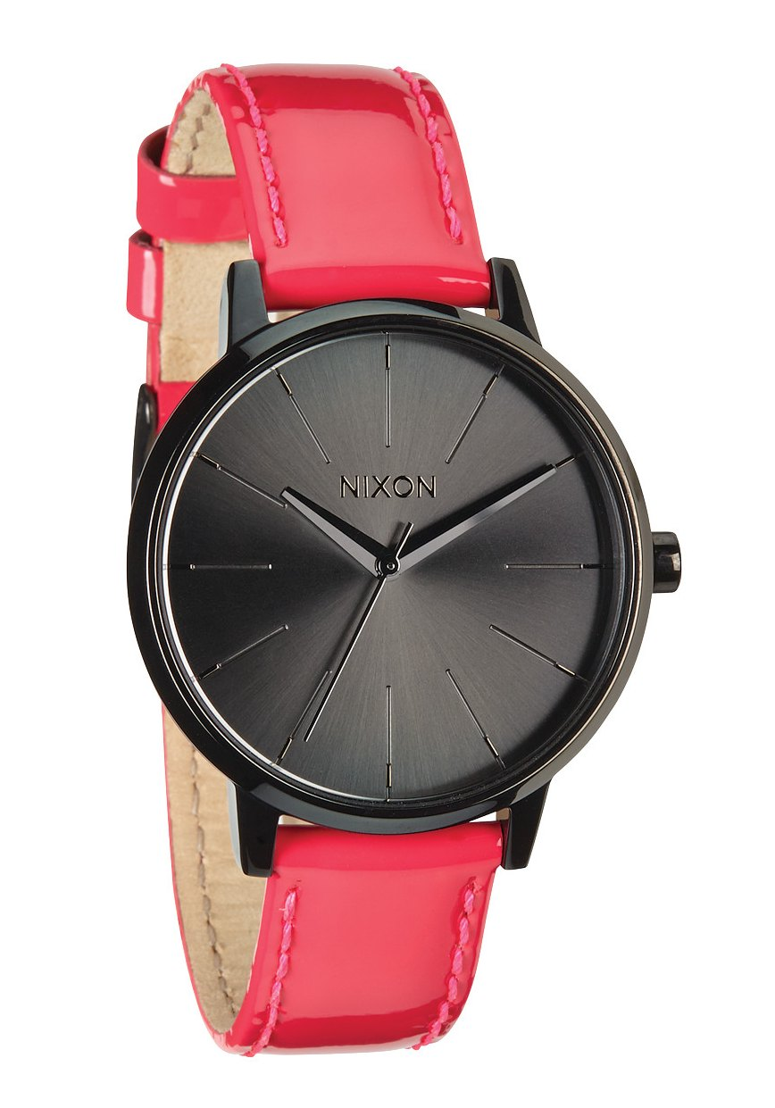 Nixon The Kensington Leather Bright Pink Patent