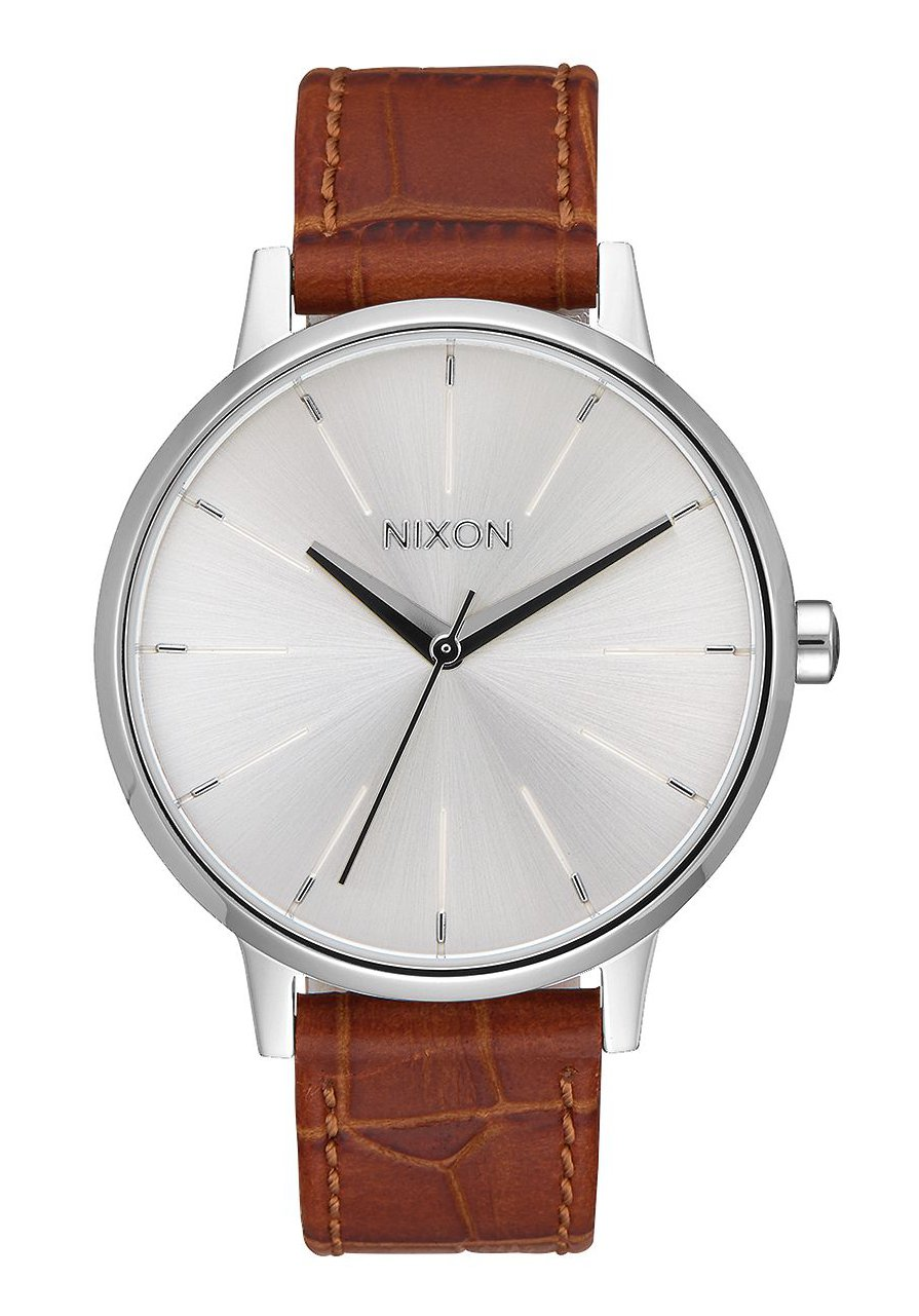 Nixon The Kensington Leather Silver / Saddle Gator