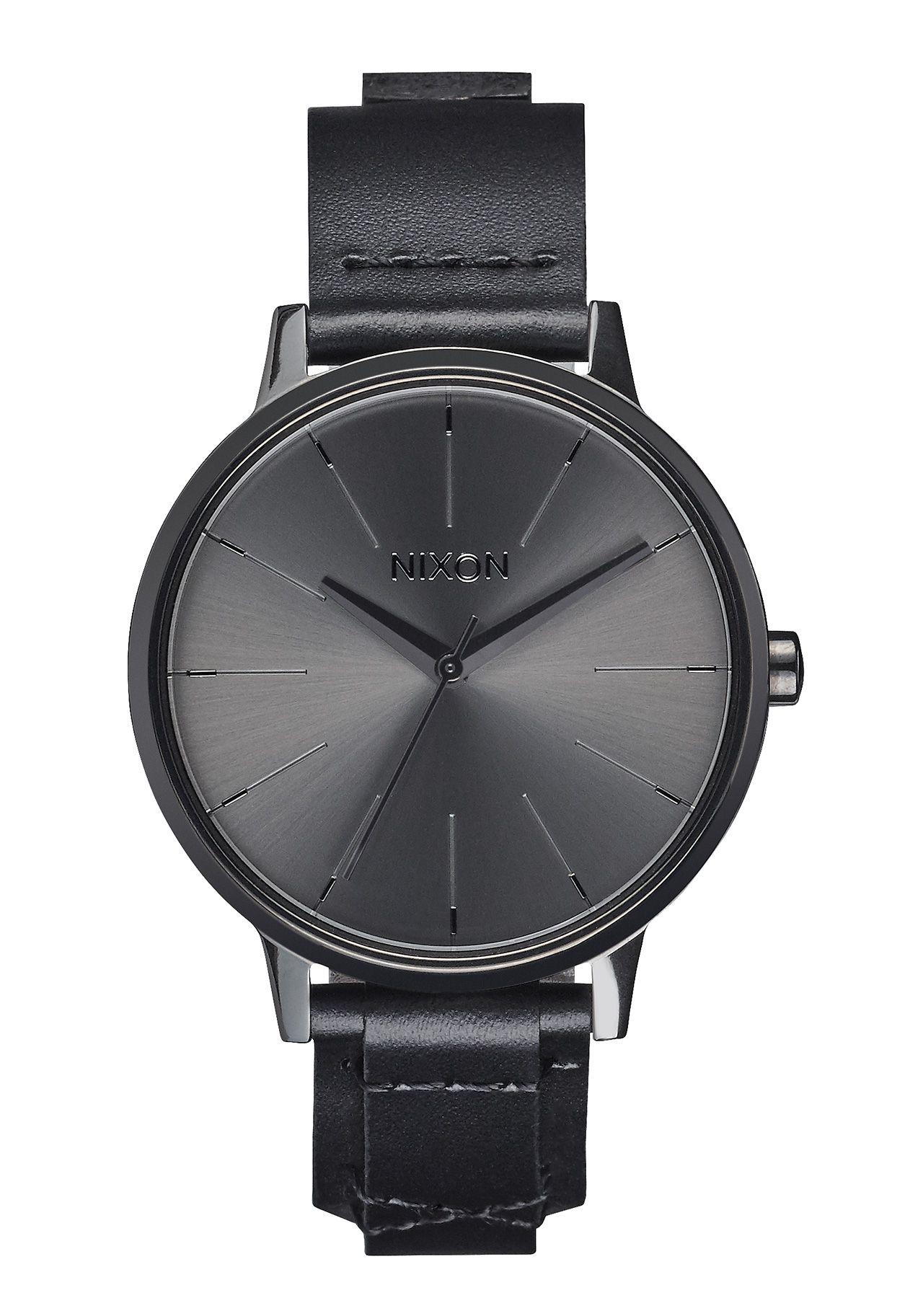 Nixon The Kensington Leather Black Bridle