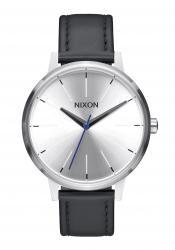Nixon The Kensington Leather Silver Black Blue (A1082184)