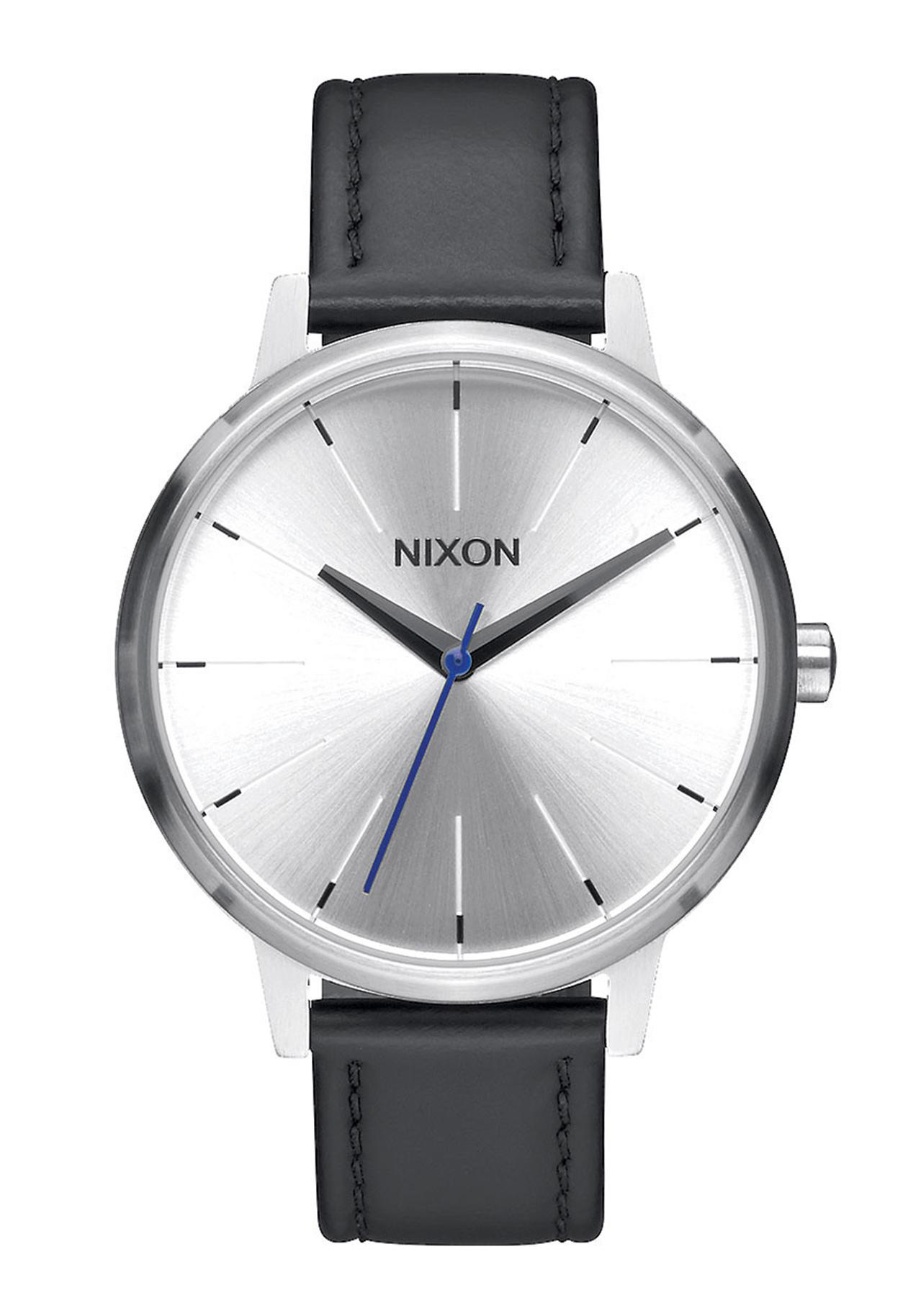 Nixon The Kensington Leather Silver / Black / Blue