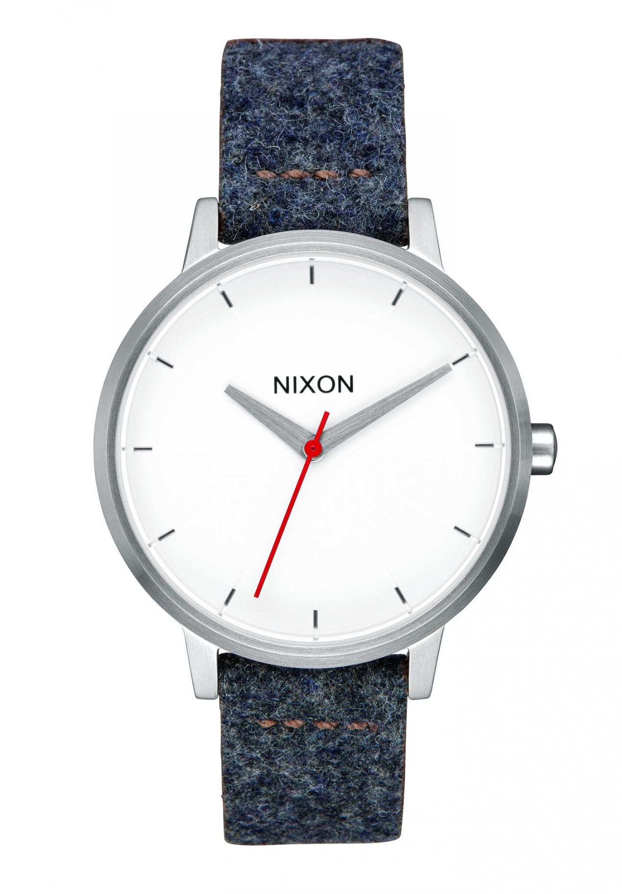 Nixon The Kensington Leather Gray / Tan