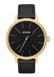 Nixon The Kensington Leather Gold / Black / Silver (A1082879)