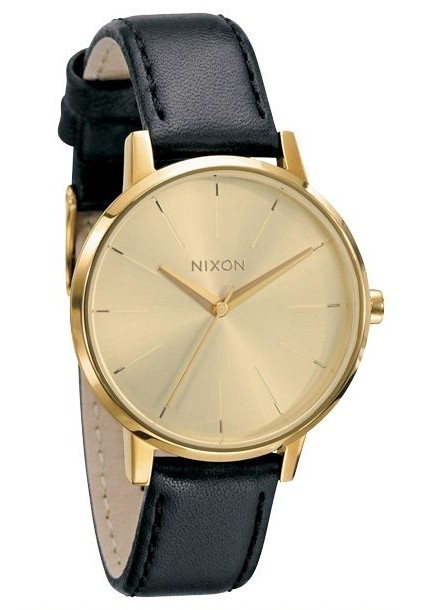 Nixon The Kensington Leather Gold Damenuhr