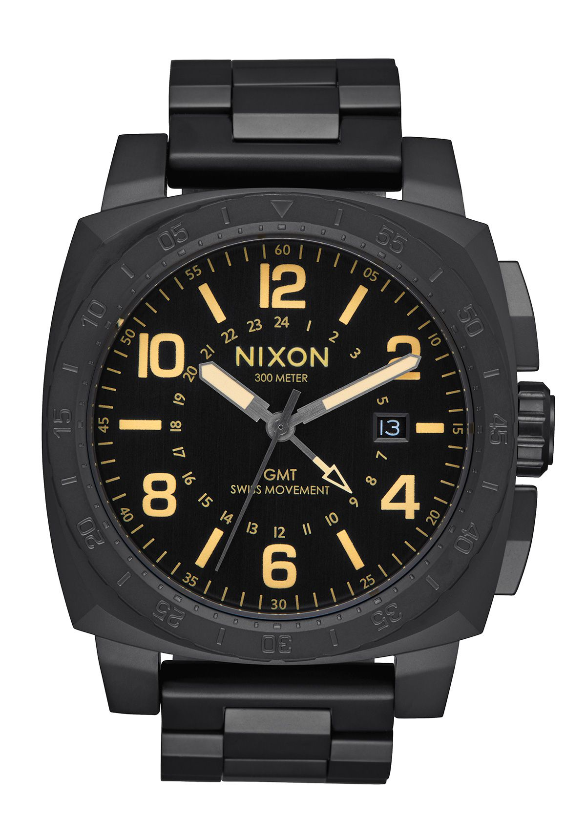 Nixon The Charger GMT All Black / Lum